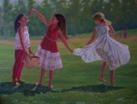 Les fillettes au parc