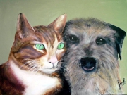 tableau : chat et chien