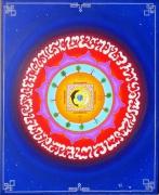 tableau autres mandala univers bleu chakra : L'univers