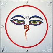 tableau autres bouddha mandala tibet : Buddha Eyes