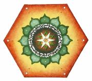 tableau autres mandala chakra couleur : Hexagon'