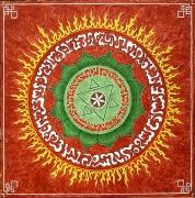 tableau autres mandala cercle ethnic coeur : Passion