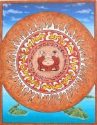 tableau autres mandala boudha ethnic : Boudha