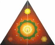 tableau autres mandala equilibre triangle coeur : Equilibre