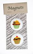 bijoux nature morte magnets cupcakes magnets gateaux deco frigo aimant amusant : MAGNETS CUPCAKES fleurs...