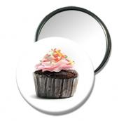 """bijoux nature morte miroir design miroir pour petit ca cpetit cadeau miroir cupcake : Miroir de poche """"cupcake"""""""