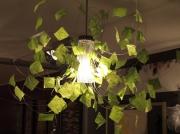 deco design lustre fil de fer papier creation piece unique : lustre envol
