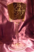 ceramique verre personnages cupidon photophore coeur saint valentin : Cupidon lumineux