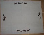 art textile mode animaux chevaux couverture polaire coton : Couverture avec chevaux