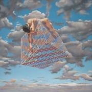 tableau scene de genre tombe du ciel : cube 1
