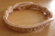 artisanat dart bracelet prenom cuir artisanal : bracelet perso