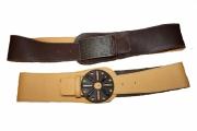 artisanat dart ceinture large reversible cuir : ceinture reversible