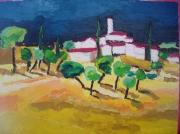 tableau : village provencal