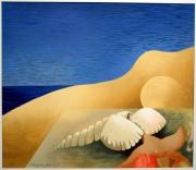 autres nus plage nu femme lithographie : VÉNUS OU HOMMAGE À BOTTICELLI
