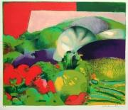 autres nature morte jardin potager lithographie legumes : QUELQUES COULEURS DE MON POTAGER
