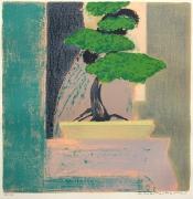 autres autres bonsai lithographie mourlot japon : BONSAÏ