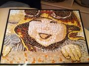 ceramique verre personnages mosaique enfant : tableau mosaique - Le petit Aviateur