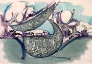 """tableau autres jardin calligramme baleine citation sur le jard : J comme """"jardin""""."""