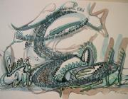 tableau autres eau calligramme : E comme eau.