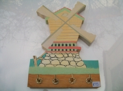 sculpture architecture bois sculpture deco moulin : N° 15 Le Moulin porte clés