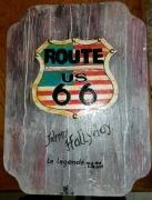 deco design paysages route 66 deco johnny tableau route 66 joh : N°102  Route 66 Johnny H