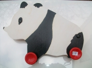 sculpture animaux bois sculpture animaux deco : N° 17 Le Panda porte serviete