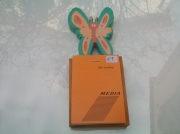 artisanat dart paysages deco bois objet : N° 1 Bloc note sur bois avec motif papillon