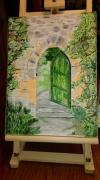 tableau architecture porte architecture maison la porte verte ouver : N° 103 La Porte Verte ouverte «La vie et derrière et pleine de p