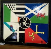 tableau scene de genre celte drapeau histoire union des communaute : N° 98 Union des communautés Celtes