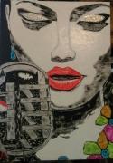 tableau personnages femme visage portrait la diva : N° 135 La Diva