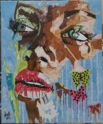 autres personnages portrait personnage femme la pulpeuse aux papi : N° 132 La Pulpeuse aux Papillons