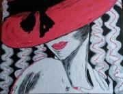 tableau personnages personnages portrait visage la seductrice : N° 122 La Séductrice