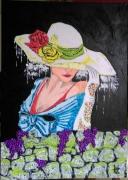 tableau personnages personnage portrait femme la mysterieuse : N°128 La Mystèrieuse