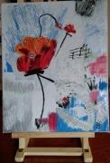 tableau fleurs fleurs nature deco le coquelicot abstra : N° 109 Le Coquelicot Musical