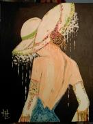 tableau personnages portrait femme nu bella ragazza : N° 127 Bella Ragazza