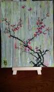 tableau fleurs fleurs nature arbre le pommier japonnais : N° 117 Le Pommier Japonnais
