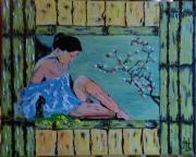 tableau personnages personnage zen nus la reveuse : N° 119-La Réveuse