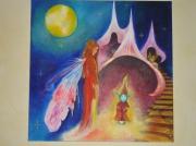 tableau autres enfant elfe lutin decoration d in : Dans un autre monde.