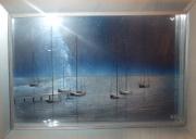 tableau marine marine navigation bateau plexiglas : La nuit des bateaux