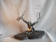 sculpture paysages arbre givre sculpture bois : L'arbre givré