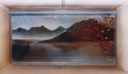 tableau paysages annecy lac anneciens feuilles : Le massif des Bauges
