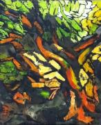 tableau autres arbre stylise nature ramure arbre en feuilles : Arbre en vie