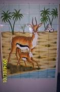 ceramique verre animaux ceramique faience : LA GAZEL