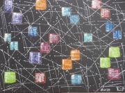 tableau abstrait : Cubes en folie
