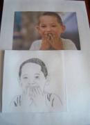 dessin personnages enfant dessin : dessin(portrait )