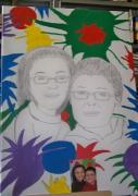 dessin personnages fond colorer dessin toile enfant : dessin(portrait )