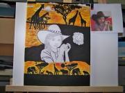 dessin animaux animaux savane portrait toile enfant : dessin(portrait )