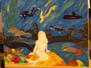 dessin marine ocean portrait toile enfant : dessin(portrait )