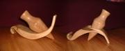 artisanat dart marine bois vase amphore vague : amphore dans la vague