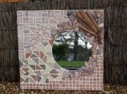 artisanat dart : Miroir Terre Cuite ( VENDU)